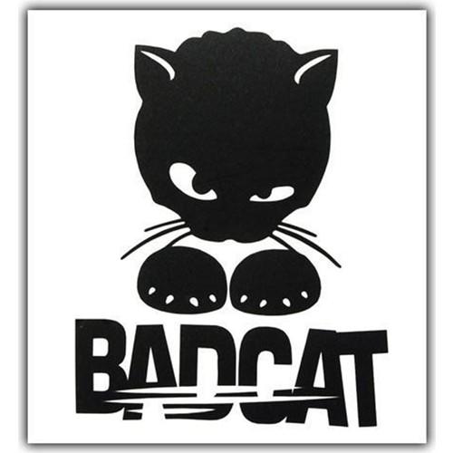 Nettedarikcisi ozy bad cat kötü kedi yazı araba oto sticker 10cm