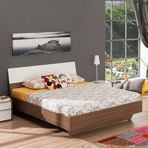 Adore Prestıge Yatak Odası Çift Kişilik Karyola Noce-Lake Beyaz