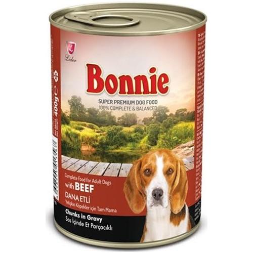 Bonnie Parça Etli Biftekli Köpek Konservesi 400 Gr 12 ADET