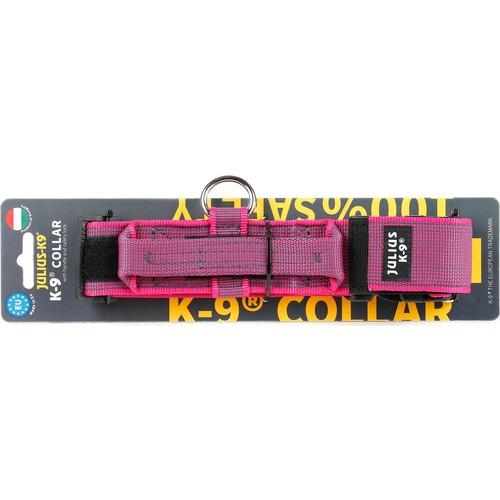 Julıus-K9 200Ha-K-Pn-15-P Color & Gray K9-Saplı Ve Güvenlik Kilitli Boyun Tasması : 50 Mm*49-70 Cm Pembe-Gri