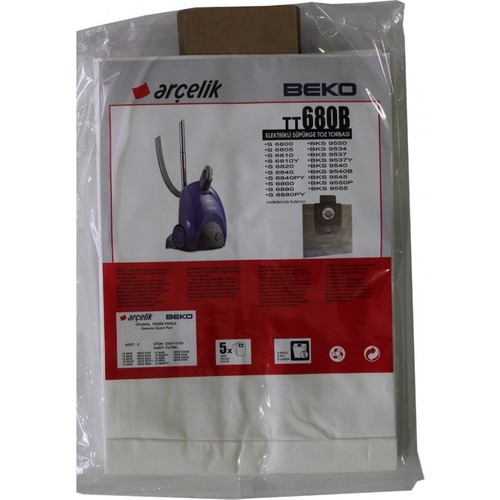 Beko BKS 9537 Y Elektrikli Süpürge Uyumlu Kağıt Süpürge Torbası