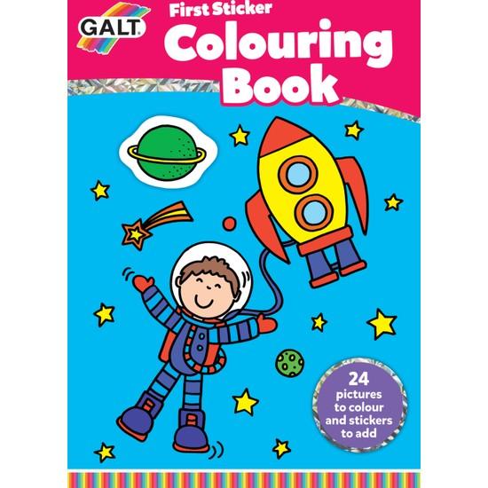 First Sticker Colouring Book 3 Yaş+