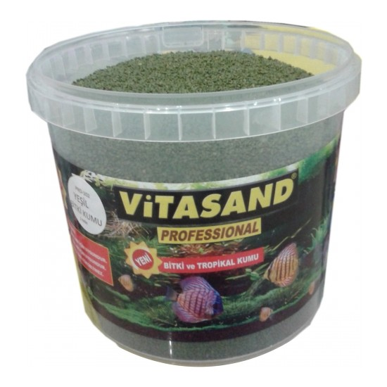 Vitasand Pro-102 Yıkanmış Akvaryum Bitki Kumu Yeşil 20kg