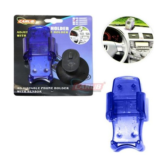 Carub Telefon Tutucu Vantuzlu Sensörlü Mavi