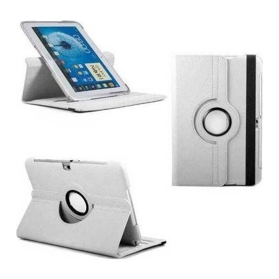 """Bordo Samsung Galaxy Tab Pro T520 10.1"""" 360° Dönebilen Beyaz Standlı Tablet Kılıfı"""
