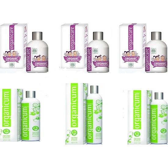 Organicare Bebek Şampuan3Adet + Organicum Yağlı Saçlar 3 Adet