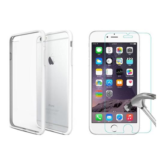 Blueway Apple İphone 6 - 6S Ekran Koruyucu + Şeffaf Silikon Kılıf