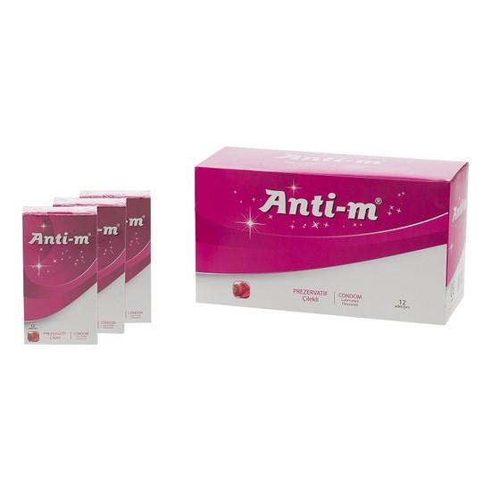 Anti-M Çilekli 12 Adet Prezervatif