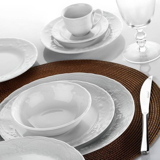 Kütahya Porselen Lalezar 83 Parça 12 Kişilik Yemek Takımı