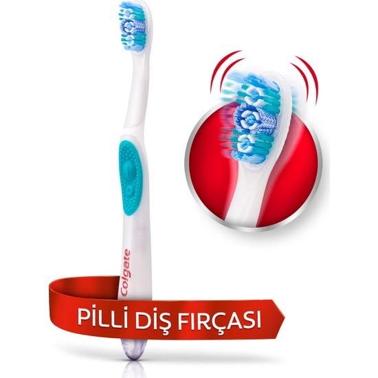 Colgate Pilli Titreşimli Diş Fırçası Optik Beyaz
