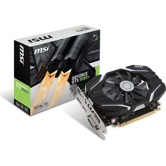 MSI NVIDIA GeForce GTX 1050 TI 4G OC 4GB 128 bit GDDR5 DX(12) PCI-E 3.0 Ekran Kartı (GTX 1050 TI 4G OC)