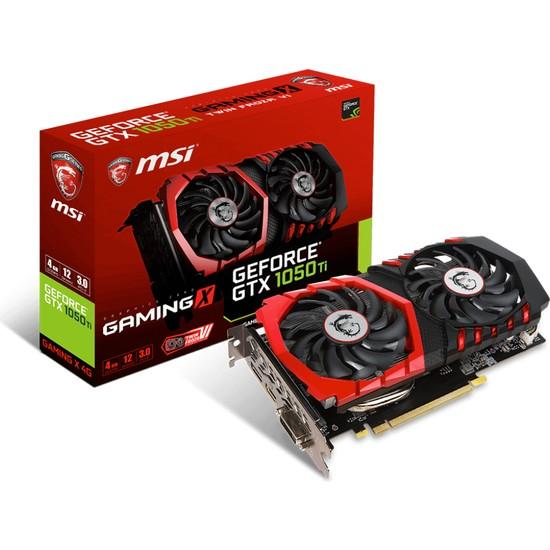 MSI NVIDIA GeForce GTX 1050 TI Gaming X 4G 4GB 128 bit GDDR5 DX(12) PCI-E 3.0 Ekran Kartı (GTX 1050 TI Gaming X 4G)