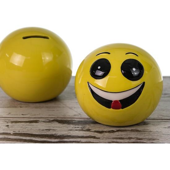 Seramik Emoji Kumbara 9,5 cm LN753-2