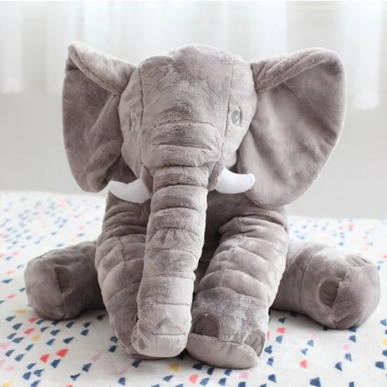 Momz Uyku Arkadaşım Fil Peluş Yastık Sleeping Mate Elephant 60Cm