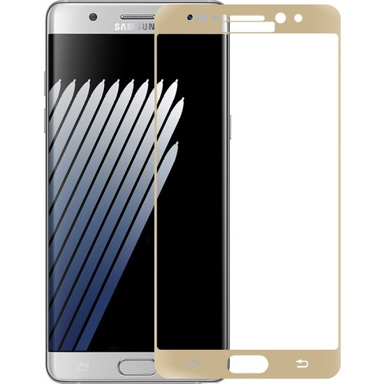 Glass Samsung Galaxy Note 7 Kavisli Cam Ekran Filmi Cin77 Sarı