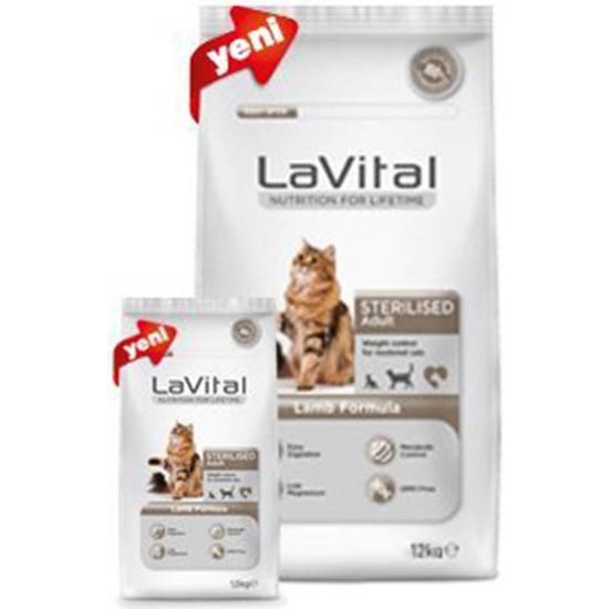 La Vital Cat Adult Sterilised Lamb Kuzu Etli Kısırlaştırılmış Yetişkin Kedi Maması 12 Kg