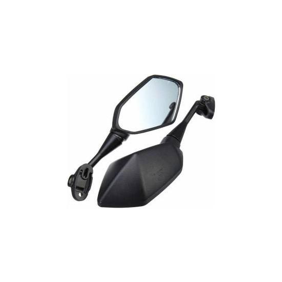 Tumopar Motosiklet Aynası Takım Qy1108-B-F Kısa Saplı Honda Cbr600F Hyosung Gt250Rr Kawasakı Nınja 250