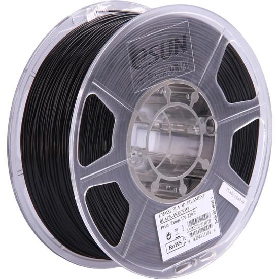 eSUN Pla+ Siyah 1,75 mm 3D Printer Filament