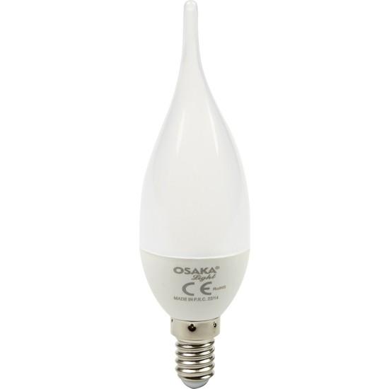 Osakalight 6W-50watt Led E14 Kıvrık Buji Ampul - Günışığı