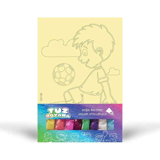 Futbolcu-2 Tuz Boyama KB-055
