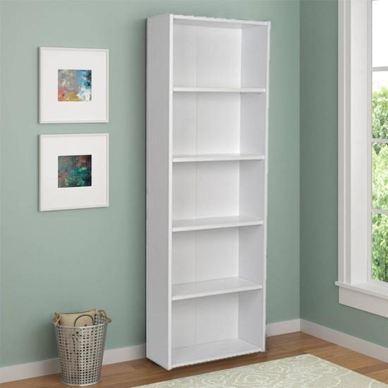 Lilium 5 Raflı Dekoratif Kitaplık Beyaz