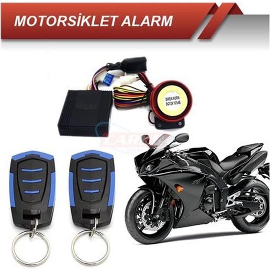 Carub Motorsiklet Alarmı Kumandalı Siyah Mavi