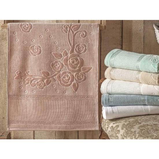 Gonca Tekstil12'Li Etaminli 50X90 Ara Boşluklu Kadife Havlu