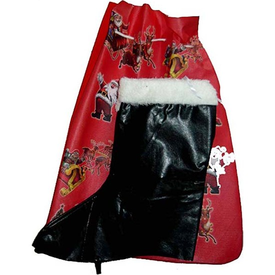 Kostümce Noel Baba Hediye Dağıtım Torbası Ve Noel Baba Çizmesi Seti