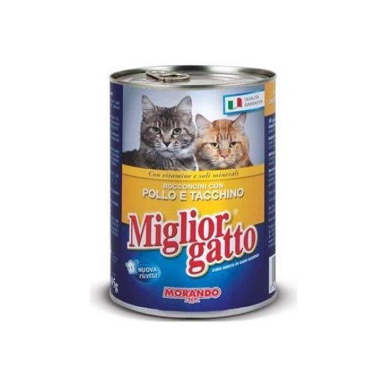 Miglior Gatto Tavuklu Ve Hindili Kedi Konservesi 405 Gr