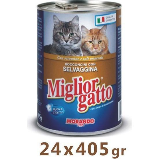 Miglior Gatto Av Hayvanli Kedi Konservesi 405 Gr (24 Adet)