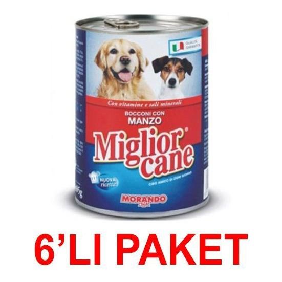 Miglior Cane Biftekli Köpek Konservesi 405 Gr (6'li Paket)