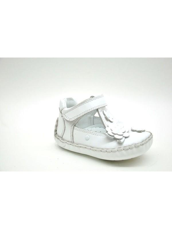 Sanbe Yumuşak Taban İlkadım Kız Deri Ayakkabı Beyaz