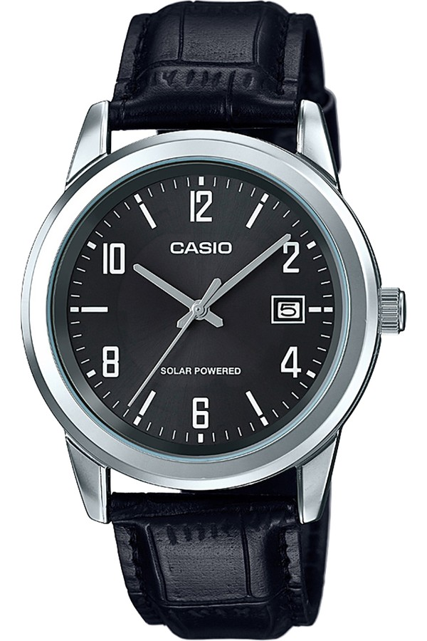 Casio Leather Strap Men's Watch MTP-VS01L-1B2DF