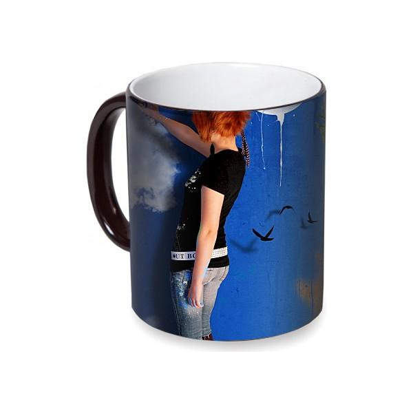 Fotografyabaskı Sprey Boya Sanatı Sihirli Siyah Kupa Bardak Baskı