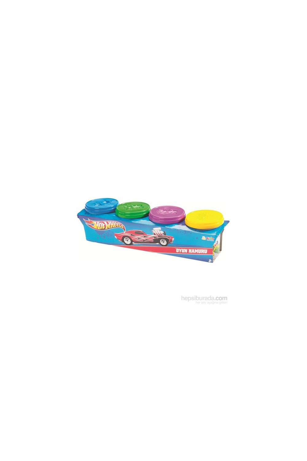 Hotwheels Kids' Play Dough Set 4 Pieces