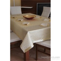 Special Home Leke Tutmaz Masa Örtüsü - Gold (9 Parça)
