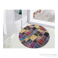 Dekoreko Yuvarlak Halı Patchwork Multi Color 160X160