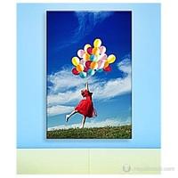 Balonlu Kız Kanvas Tablo