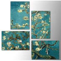 Tictac Van Gogh - 4 Parça Kanvas Tablo