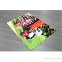 Jungle Panda Çocuk Odası Halısı 100x145 cm