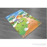 Jungle Hayvanlar Alemi Çocuk Halısı 100x145 cm
