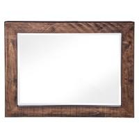 Altıncı Cadde Ağaç Duvar Aynası Kahverengi 85X100 Cm