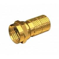 F Konnektör, Vidalı Tip, Altın Kaplamalı Sarı. Tv-1060