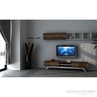 Hayal (1245) Tv Ünitesi-Leon Ceviz/Parlak Beyaz
