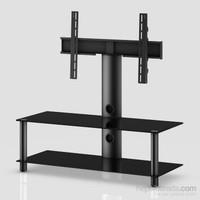 Sonorous Neo 110-B-Blk Siyah Alüminyum Gövde , Siyah Cam Askı Aparatlı Tv Sehpası