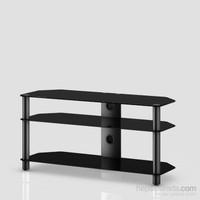 Sonorous Neo 3110-B-Blk Siyah Alüminyum Gövde , Siyah Cam Tv Sehpası