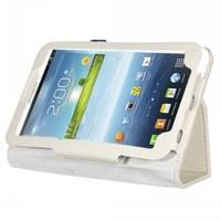 Teleplus Samsung Galaxy Tab 3 Lite Standlı Kılıf Beyaz