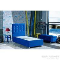 Mattrest Retro Baza&Başlık Set Tek Kişilik 90X190 Mavi