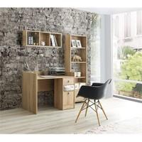 Home De Bella Fiore Çalışma Masası - Duvar Rafı - Kitaplık Seti
