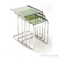 Ku_Cam Temper Glass Reflekte Zigon Sehpa L Krom Ayaklı 6mm
